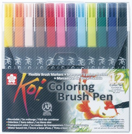 Koi Coloring Brush Pens (Set of 12) - The Deckle Edge