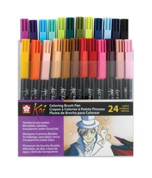 Koi Coloring Brush Pens (Set of 24) - The Deckle Edge