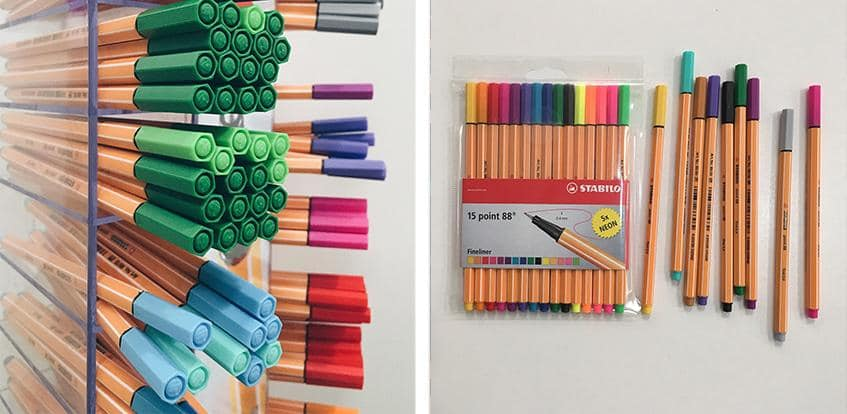 Stablio Fineliners - available as individually pens or in sets of 15 and 30