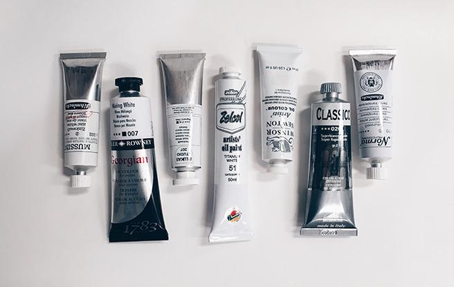 different types of white oil paint