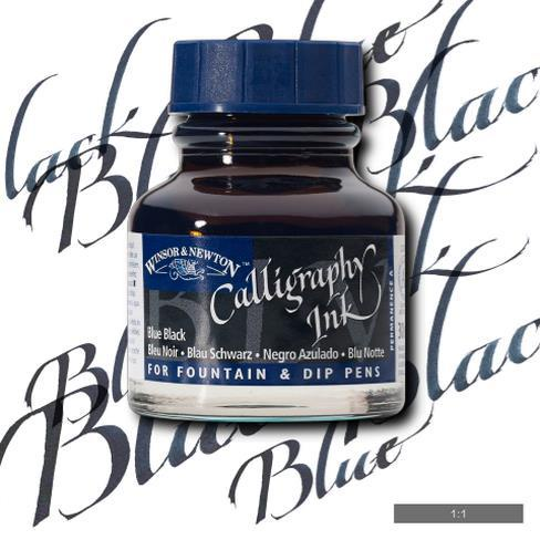 Winsor Newton Calligraphy Ink Blue Black 30ml The