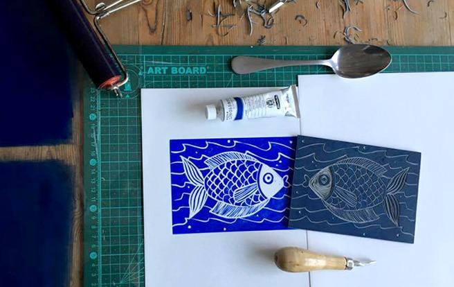 How To Make A Linocut Print The Deckle Edge