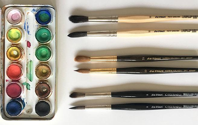 da Vinci Watercolour Brushes