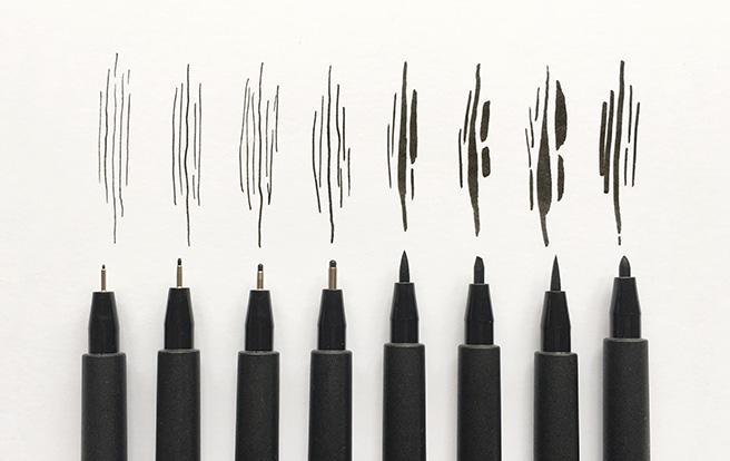 Faber castell pitt artist pens the deckle edge