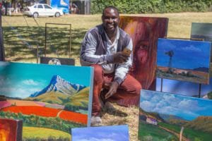 Eric Karangwa's Painting art in the park 2018