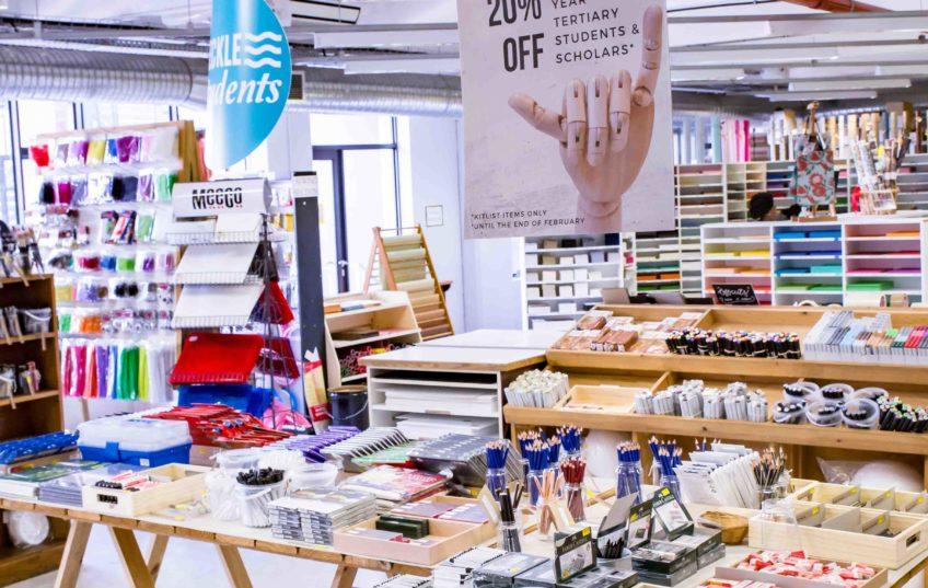 Back to School and university stationery on display in store cape town