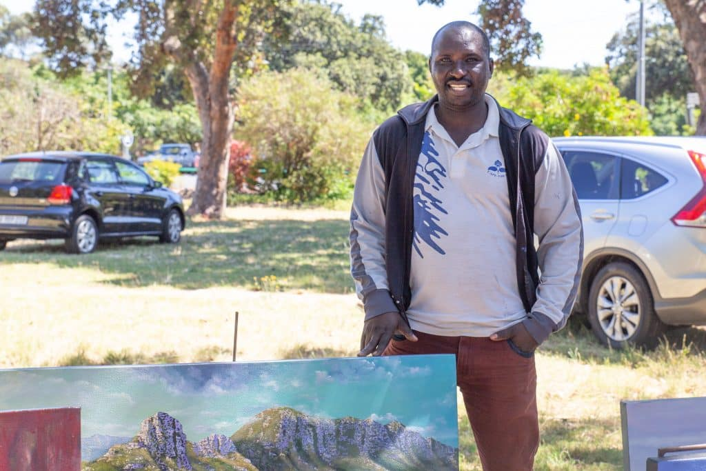 Eric Karangwa at art in the park Cape Town
