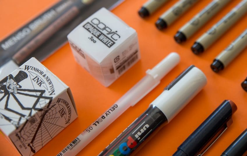 Posca Ink microns pens inktober