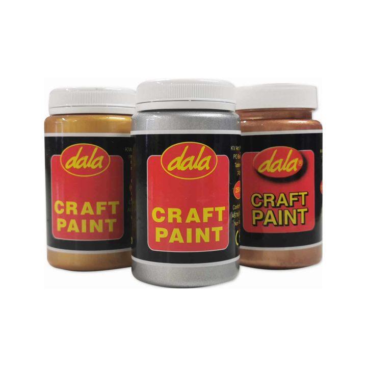Dala Craft Paint 250ml (Metallic Colours)